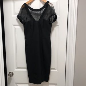 WHBM: mock sweetheart neck line cocktail dress.